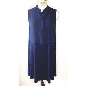 Eileen Fisher silk mandarin color dress
